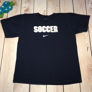 Nike girl's soccer graphic tee shirt